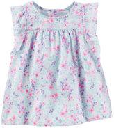 Osh Kosh Floral Flutter-Sleeve Top
