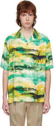 Davi Paris Yellow and Green Quai Short Sleeve Shirt