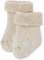 Petit Bateau Baby boy socks in terry cloth bouclette.