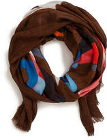 Akris Masonite-Print Silk Scarf