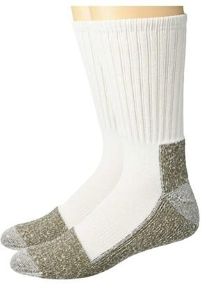 Sof Sole Steel Toe Crew Work Socks 2-Pack (White) Men's Crew Cut Socks Shoes