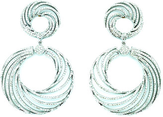 Arthur Marder Fine Jewelry 14K & Silver 4.55 Ct. Tw. Diamond Earrings