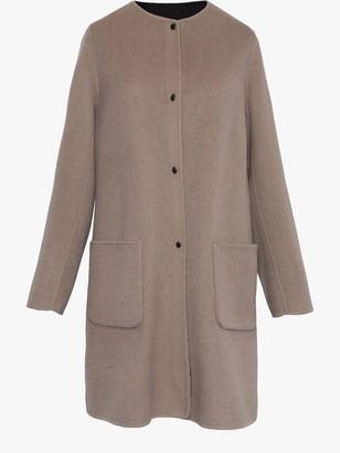Gerard Darel Plume Collarless Wool Coat