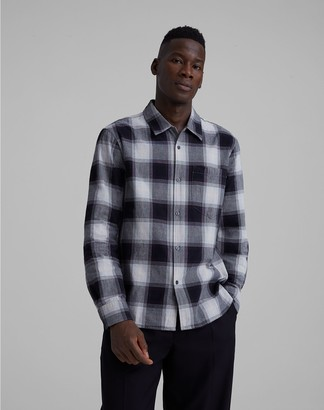 Club Monaco Ombre Plaid Loop Collar Shirt