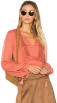 Ale By Alessandra x REVOLVE Micaela Blouse in Pink. - size L (also in S,XS)