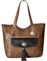 American West Annie's Secret Collection Large Zip Top Tote
