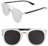 A. J. Morgan Women's A.j. Morgan Flats 60Mm Sunglasses - Matte Crystal