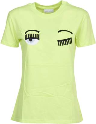 Chiara Ferragni Yellow T-shirt flirting