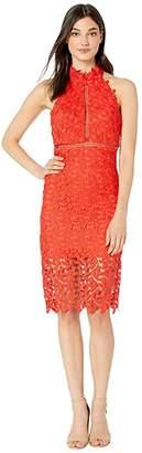 Bardot Gemma Halter Dress (Poppy Red) Women's Dress