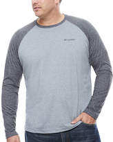Columbia Long Sleeve Crew Neck T-Shirt-Big and Tall