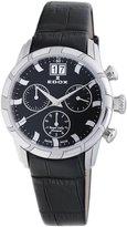 Edox Women's 10018 3 NIN Royal Chronograph Black Dial Watch