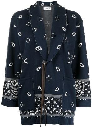 Coohem Bandana-Jacquard Knitted Jacket