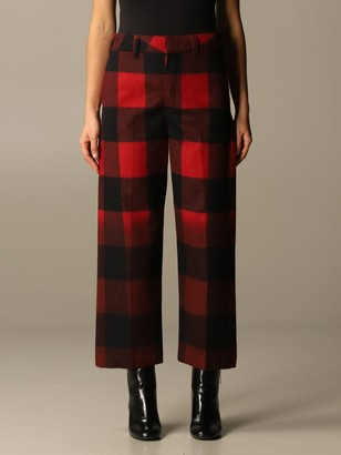 DEPARTMENT 5 Pants Department Five Trousers In Check Wool