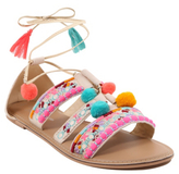George Pom-Pom and Tassel Sandals