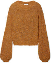 See by Chloe Open-knit Wool-blend Sweater - Camel