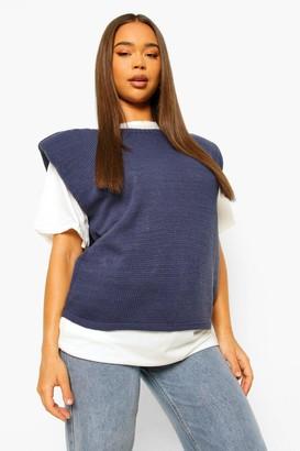 boohoo Shoulder Pad Knitted Jumper