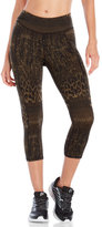 Betsey Johnson Performance Animal Lace Print Crop Leggings