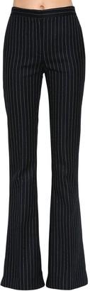 Alexander McQueen Pinstriped Wool Flared Pants
