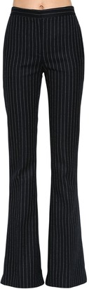 Alexander McQueen Pinstriped Wool Flared Pants