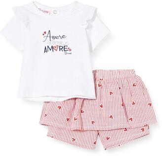 Brums Baby Girls' Compl.2 Pz.t-Shirt+Gonna Pantalone Clothing Set