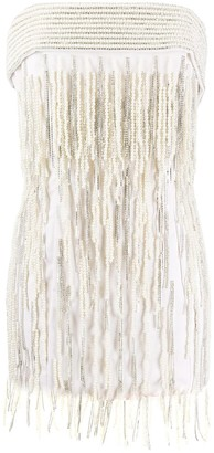 The Attico Embellished Fringe Mini Dress