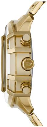 Diesel Black and Gold Detail Chronograph Dial Gold Stainless Steel Bracelet Mens Watch