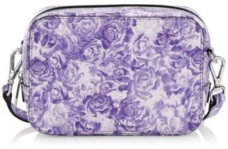 Ganni Floral Leather Camera Bag