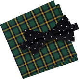 Tommy Hilfiger Men's Dot Bowtie & Plaid Pocket Square Set