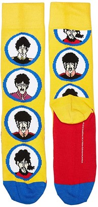Happy Socks Beatles Submarine Sock (Medium Yellow) Women's Crew Cut Socks Shoes