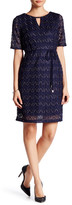 Sandra Darren Key Knit Lace Dress (Petite)