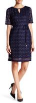 Sandra Darren Key Knit Lace Dress (Petite)