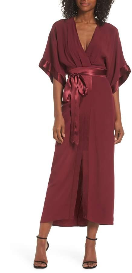 Adelyn Rae Melinda Kimono Midi Dress