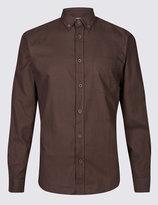Marks and Spencer Brushed Cotton Plain Shirt