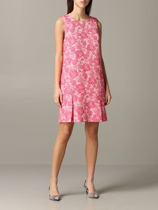 Blumarine Be Short Dress With Floral Pattern