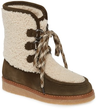 Aquatalia Wynter Water Resistant Genuine Shearling Boot