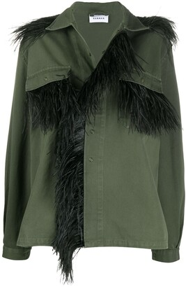 P.A.R.O.S.H. Feather Trimmed Jacket