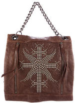 Thomas Wylde Stud-Embellished Leather Satchel