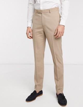 ASOS DESIGN skinny suit trousers in stone