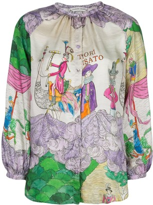 Tsumori Chisato Embroidered Long-Sleeve Blouse