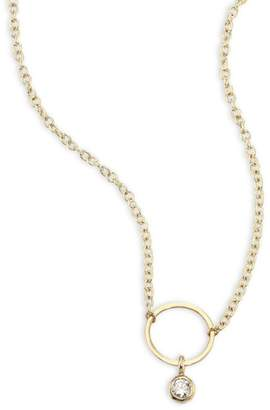Chicco Zoe Diamond & 14K Yellow Gold Circle Necklace