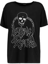 R 13 Nothing Sacred Printed Cotton And Cashmere-Blend T-Shirt
