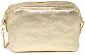 Maison Heritage Elyn Double Zip Leather Crossbody Bag