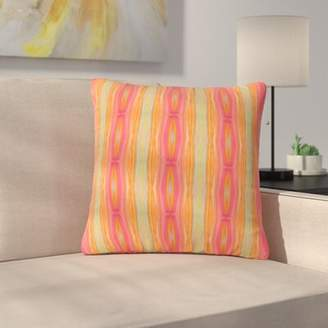 "Nika East Urban Home Martinez Summer Tie Dye Outdoor Throw Pillow East Urban Home Size: 16"" H x 16"" W x 5"" D"