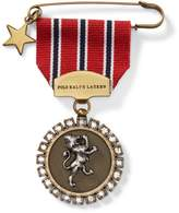 Ralph Lauren Lion-Embossed-Medal Pin