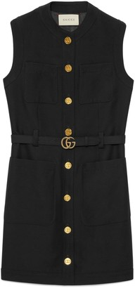 Gucci Cady silk wool vest with DoubleG