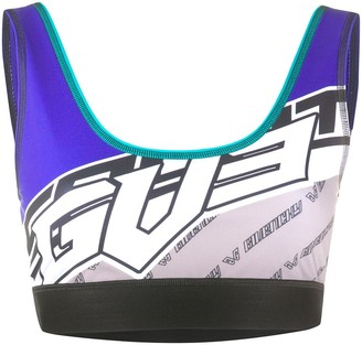 Givenchy Logo Print Sports Bra