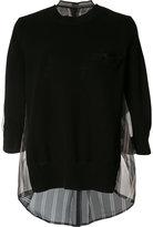 Sacai panelled sweater - women - Silk/Cotton/Polyester - 2