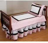 Baby Doll Bedding Pink Chocolate Bordered Toddler Bedding