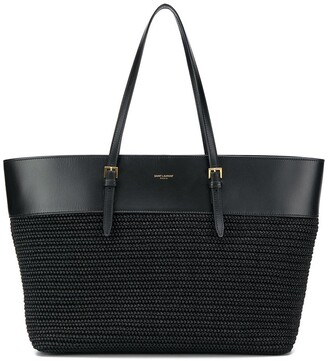 Saint Laurent Medium Raffia Shopper Tote