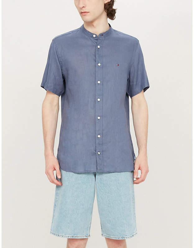 50f276f1a Tommy Hilfiger Blue Men's Shortsleeve Shirts - ShopStyle